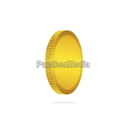 three dimensional gold coin