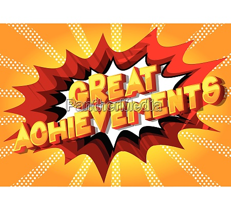 great achievements comic book style