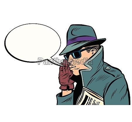 spy secret agent whisper