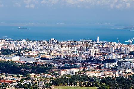 setubal city at daylight