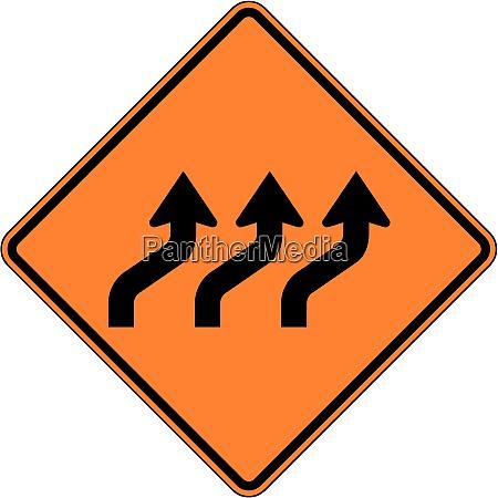 reverse curve three lanes