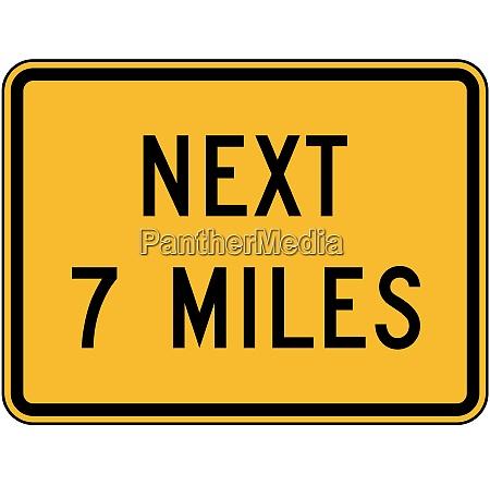 next 7 miles