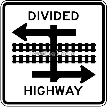 light rail divided highway