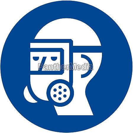 wear full face respirator