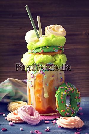 apricot freakshake with donut