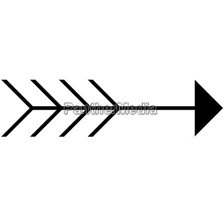 flecha con cola
