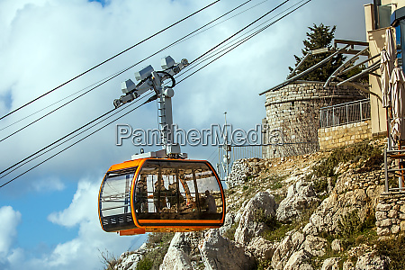 cable car on the mountain sdr