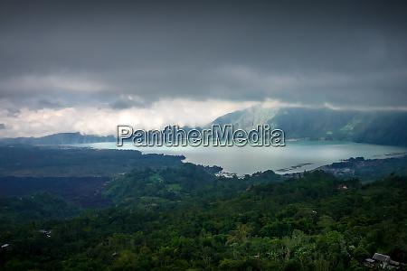 gunung batur volcano and lake bali