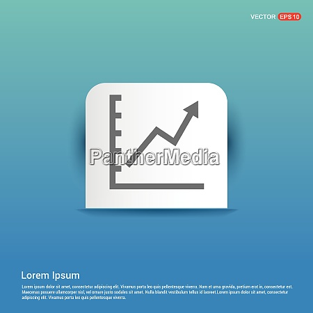 growing graph icon blue sticker