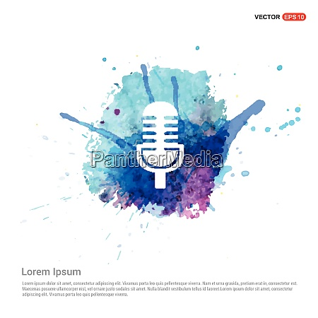 microphone icon watercolor background