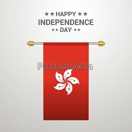 hongkong independence day hanging flag background
