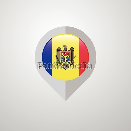 map navigation pointer with moldova flag