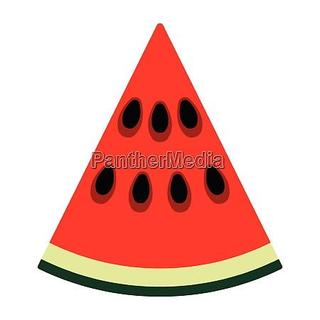 flat design icon of watermelon in