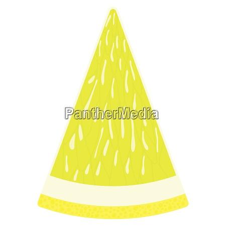 flat design icon of lemon in