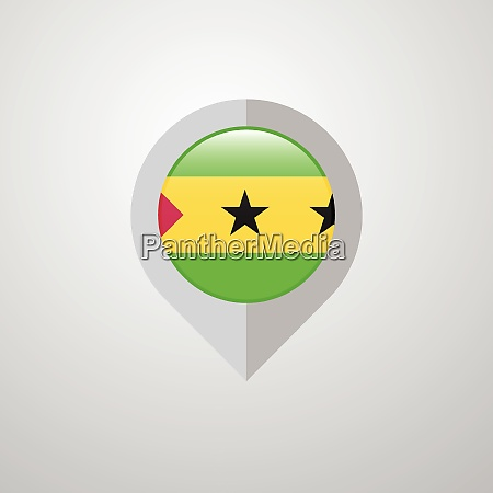 map navigation pointer with sao tome