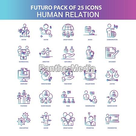 25 blue and pink futuro human