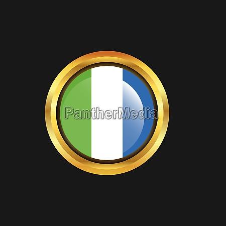 sierra leone flag golden button