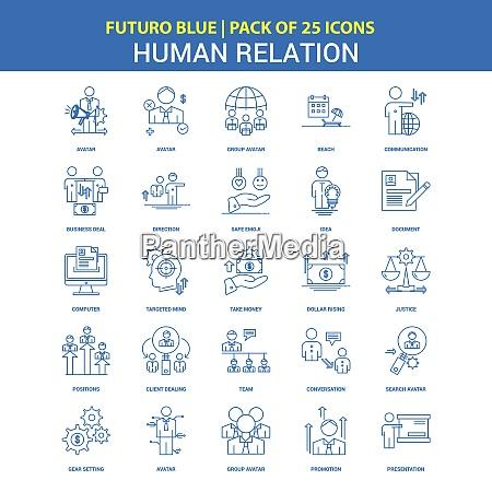 human relation icons futuro blue