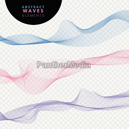 set of abstract lines waves on