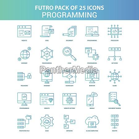 25 green and blue futuro programming