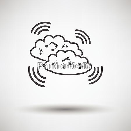 music cloud icon music cloud icon