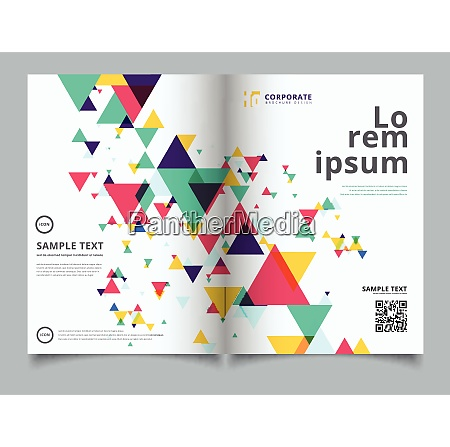 template layout brochure abstract colorful and