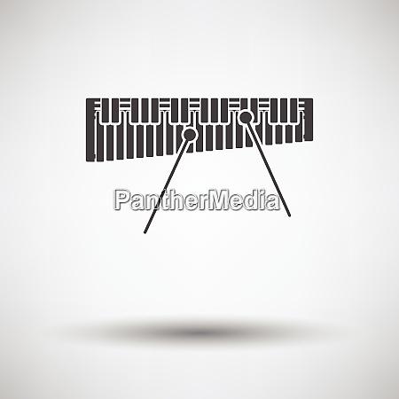 xylophone icon xylophone icon on gray