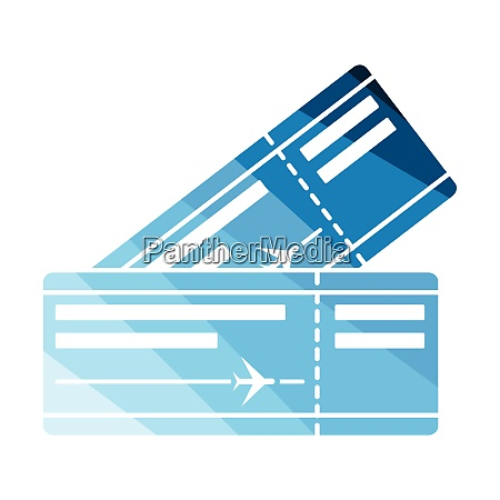 two airplane tickets icon two airplane