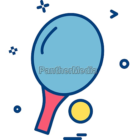 table tennis icon design vector