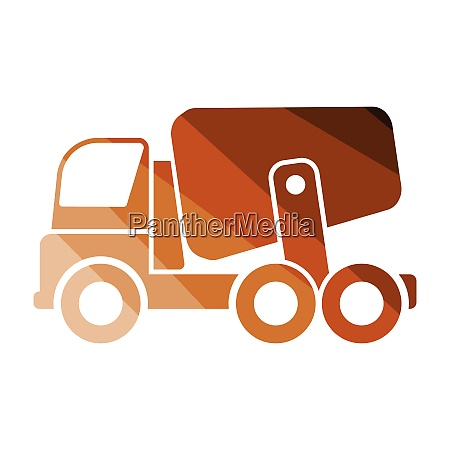 icon of concrete mixer truck