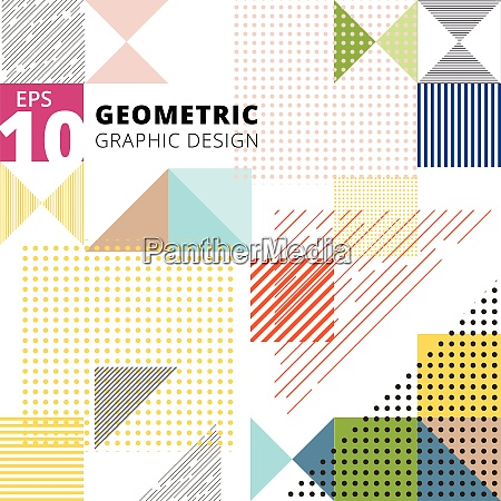 abstract multicolor geometric pattern trendy geometric