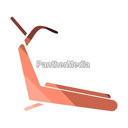 treadmill icon treadmill icon flat color