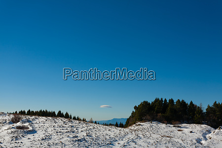 winter panorama from italian alps