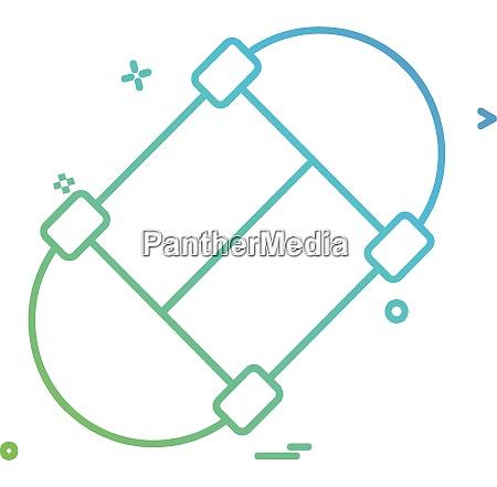 skate board icon design vector