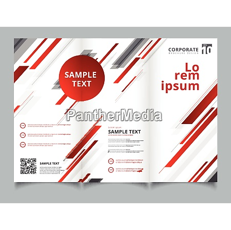 template brochure layout design abstract technology