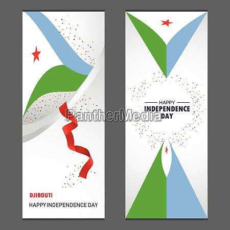djibouti happy independence day confetti celebration