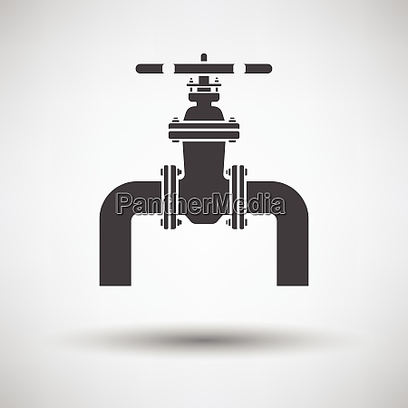 icon of pipe with valve icon