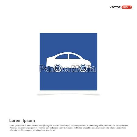 car icon blue photo frame