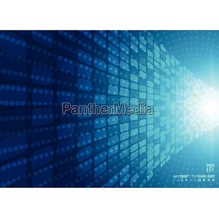 abstract technology concept with blue neon