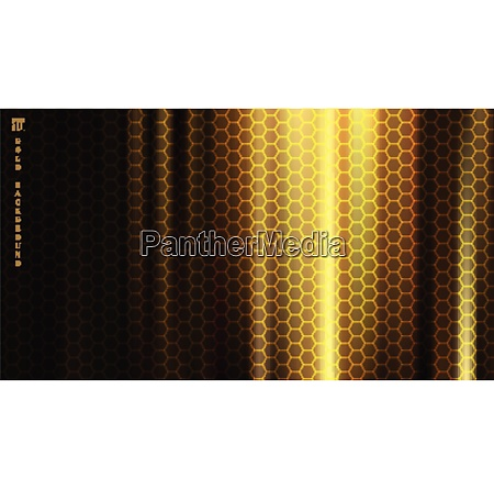 golden fabric with smooth crease and