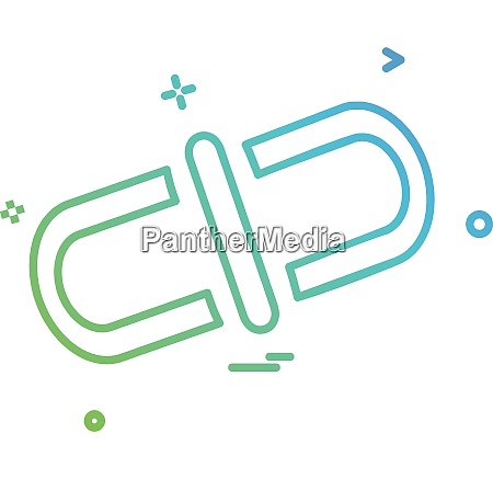 linked icon design vector