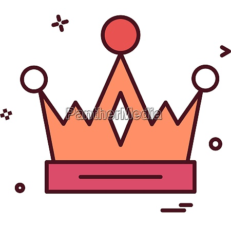 crown empire king icon vector design