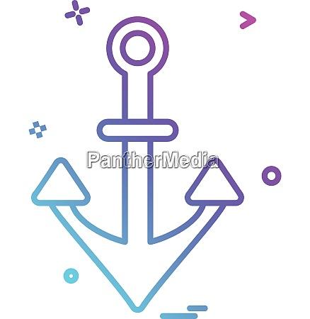 anchor icon design vector