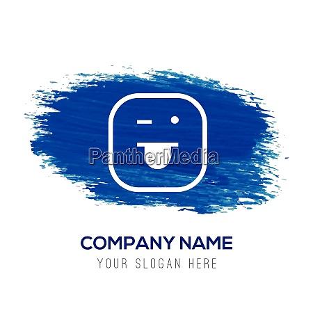 smiley icon face icon blue