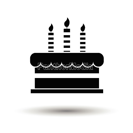 party cake icon white background with