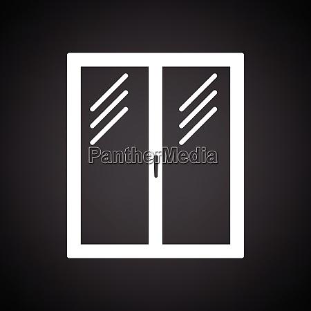 icon of closed window frame black