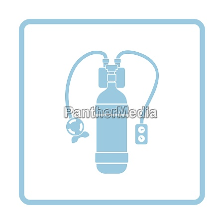 icon of scuba blue frame design