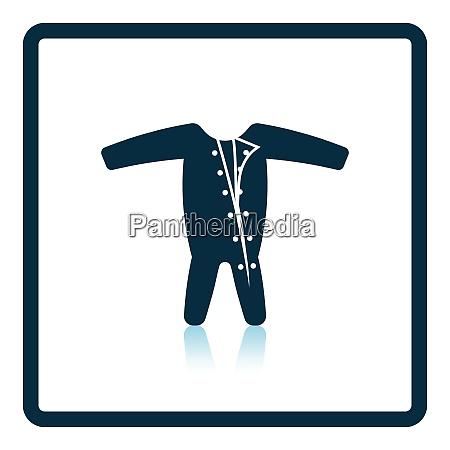 baby onesie icon shadow reflection design