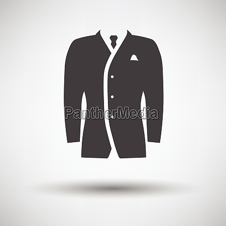 mail suit icon on gray background