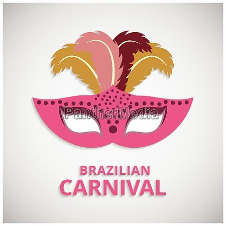 happy brazilian carnival day pink carnival